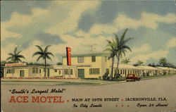 Ace Motel, Main At 39 Th Street Postcard