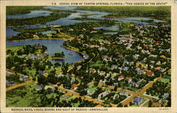 Aerial View Of Tarpon Springs The Venice Of The South