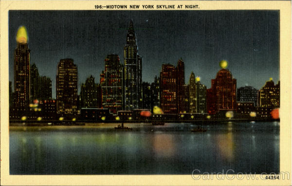 Modtown New York Skyline at Night New York City