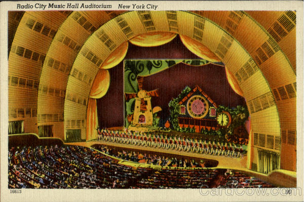 Radio City Music Hall Auditorium New York City