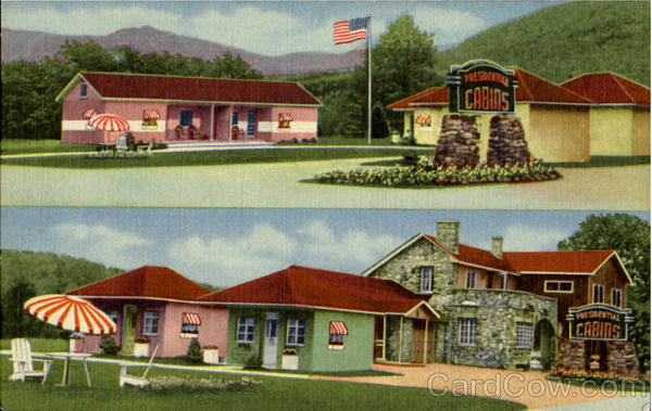 Presidential Motel Court, U.S. Route 2 - 1 Mile West Of Town Gorham New Hampshire