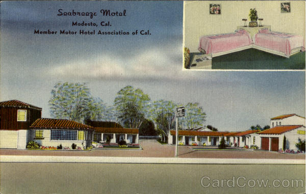 Seabreez Motel, 501 So. 99 Highway Modesto California
