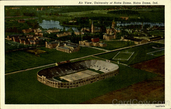 Air View University of Notro Dame Indiana