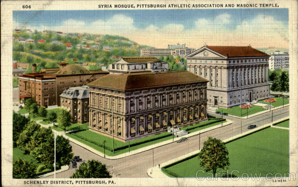 Syria Mosque ,Pittsbugh Athlentic Association And Masonic Temple.Schenley District Pittsburgh Pennsylvania