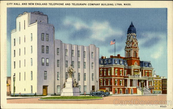 City Hall And New England Telephone And Telegraph Company Building Lynn Massachusetts