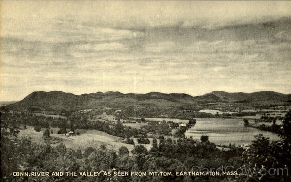Conn.River And The Valley As Seen From Mt.Tom Easthampton Massachusetts
