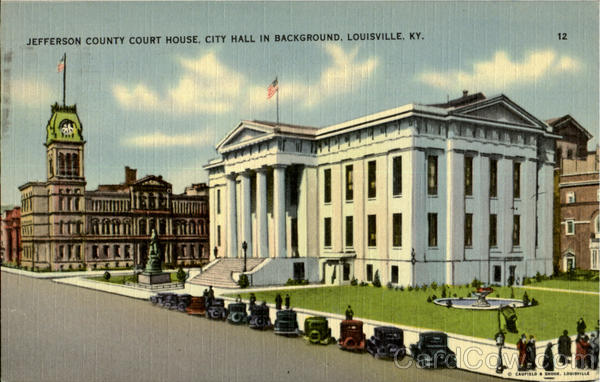 Jefferson Country House, City Hall In Background Louisville Kentucky