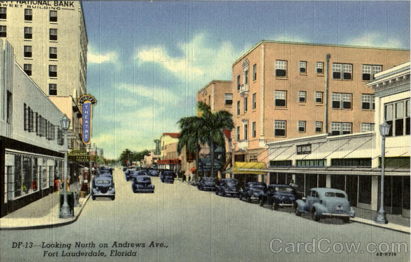 Looking North on Andrews Ave Fort Lauderdale Florida