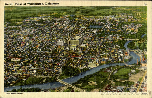Aerial View of Wilmington Delaware