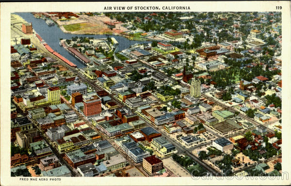 Air View Of Stockton California