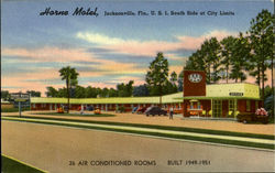 Horne Motel, U.S. 1, South Side At City Limits Postcard