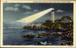 Portland Head Light By Night, Casco Bay