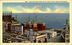 Lake Michigan From Top Of Court House