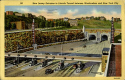 New Jersey Entrance to Lincoln Tunnel between Weehawken and New York City