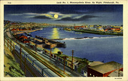 Monongahela River, By night