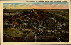 Panorama of Pikes Peak and the pikes Peak Region