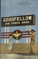 Entrance Sign Goodiellow Air fource Base
