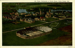 Air View University of Notro Dame Postcard