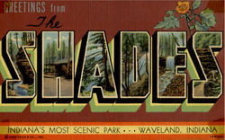 Shades Indiana'S Most Scenic Park Postcard
