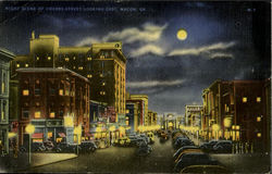 Night Scene Of Cherry-Street, Looking East,Macon,Ga.Service News Co