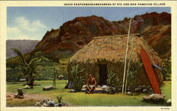 David Kaapuawaokamehameha At His One-Man Hawaiian Village