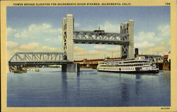 Tower Bridge Elevated For Sacramento River Steamer