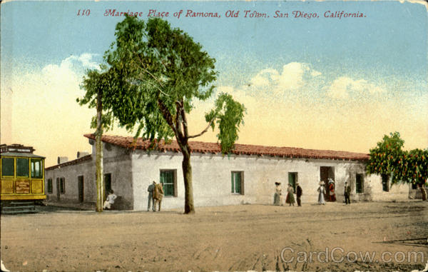 Marriage Place Of Ramona Old Town San Diego California