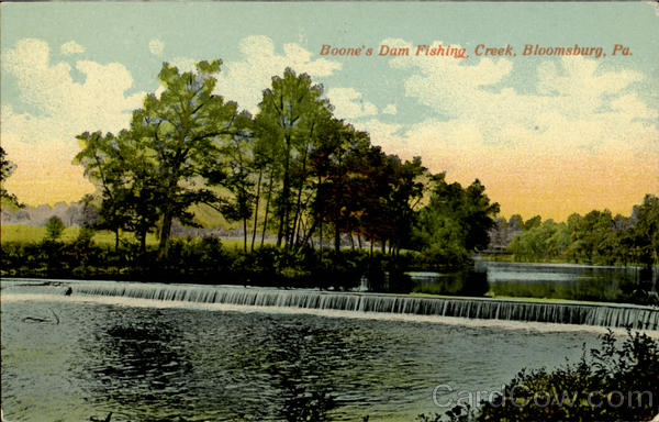 Boone 39 s dam fishing creek bloomsburg pa for Fishing creek pa