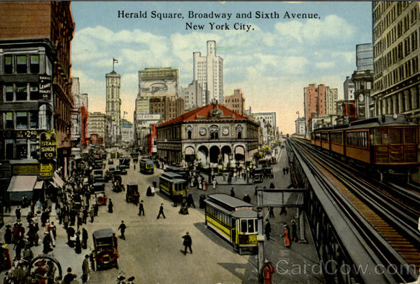 Herald Square, Broadway and Sixth Avenue New York City
