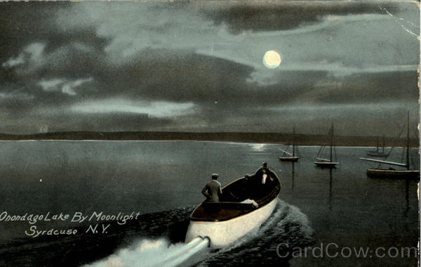Onondago Lake By Moonlight Syrdcuse New York