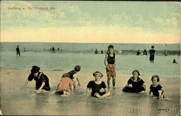 Bathing At Old Orchard Maine