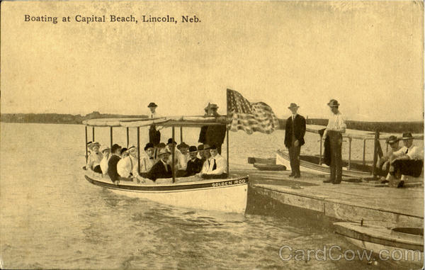 Boating At Capital Beach Lincoln Nebraska