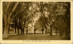 Private Grounds Postcard