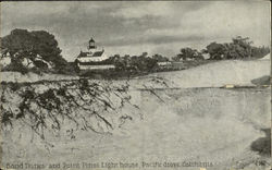 Sand Dunes And Point Pinos Light House