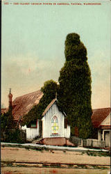 The Oldest Church Tower In America Postcard