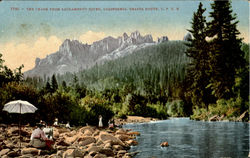 The Crags From Sacramento River, Shasta Route S.P.R.R