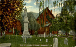 Old St. John's Church Postcard