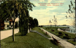 Breakwater And Governor's Office Postcard