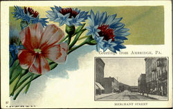 Greetings From Ambridge, Merchant Street Postcard
