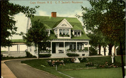 C. T. Sacket's Residence Postcard