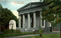 Court House And Maine Monument