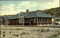 Nevada Northern Depot Postcard