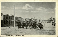 Street Scene At Camp Meade