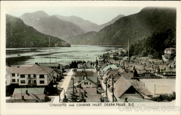 Townsite And Cousins Inlet Ocean Falls British Columbia