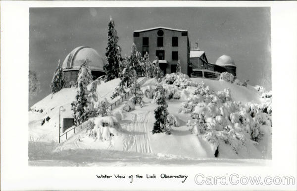 Winter View Of The Lick Observatory California