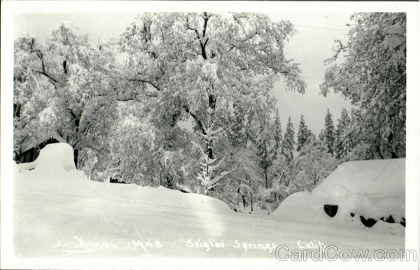 Xmas 1948 Brigter Springs California
