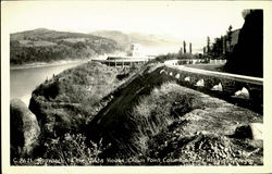 Approach To The Vista House, Columbia River Highway Postcard