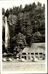 Multnomah Falls And Lodge, Colombia River Hwy