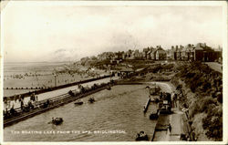 The Boating Lake From The Spa Postcard