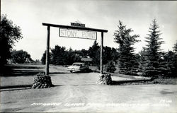 Entrance Slater Park, Stony Point Postcard